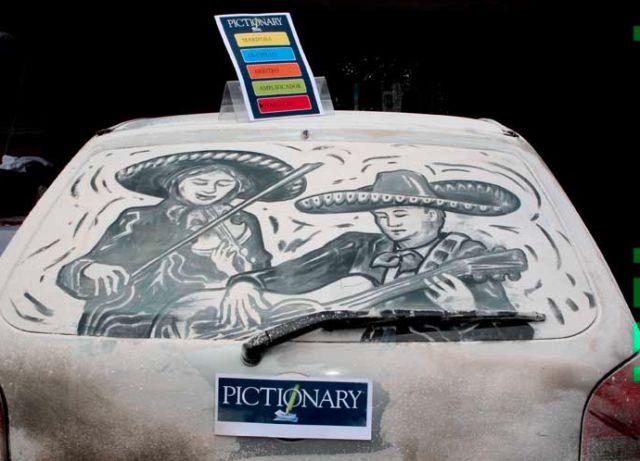 L 39 art de dessiner sur des voitures sales - Coloriage car wash ...