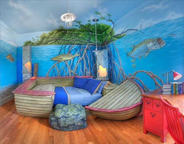 Ocean Bedroom Wallpaper