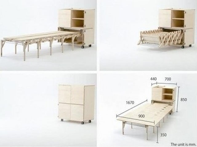 Ces meubles incroyables ont le pouvoir de se transformer for Table retractable cuisine