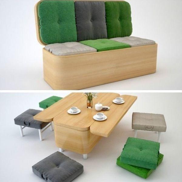 Ces meubles incroyables ont le pouvoir de se transformer for Salon qui se transforme en chambre