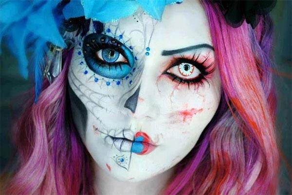 Id es de maquillage pour halloween - Maquillage halloween sexy ...
