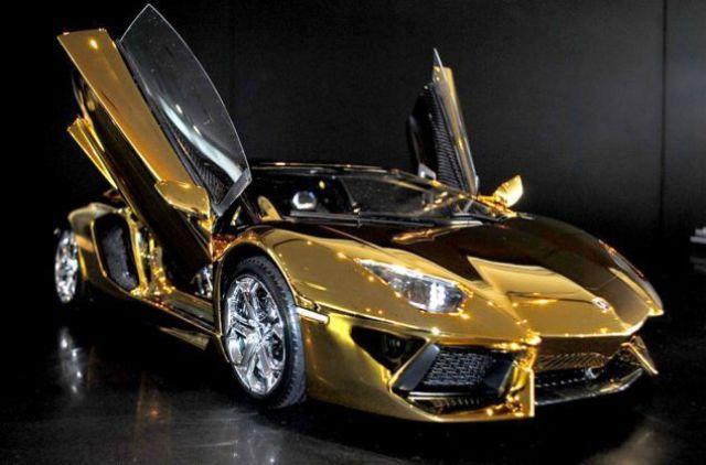 Aventador Lp700 4 Une Incroyable Lamborghini En Or